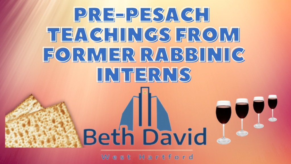 Pre-Pesach Teachings Along with Fellow Beth David Interns